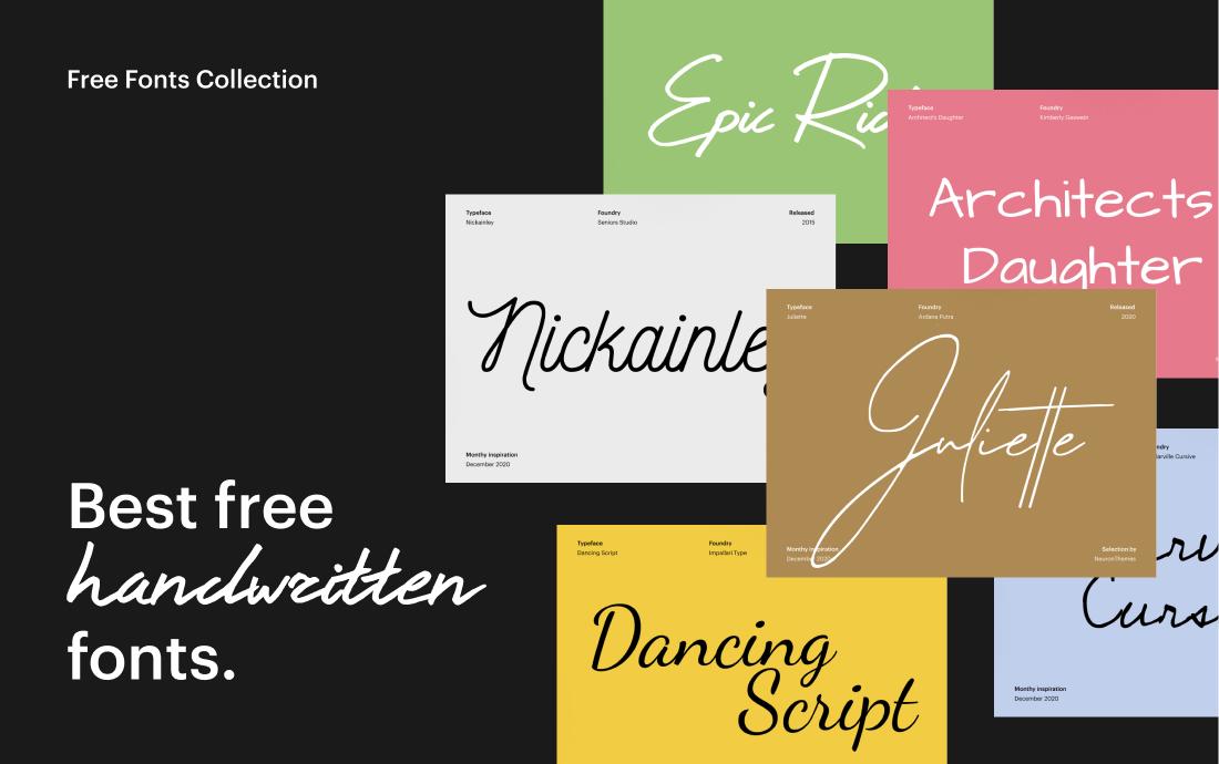 20 Best Free Handwriting Fonts | 2021 3