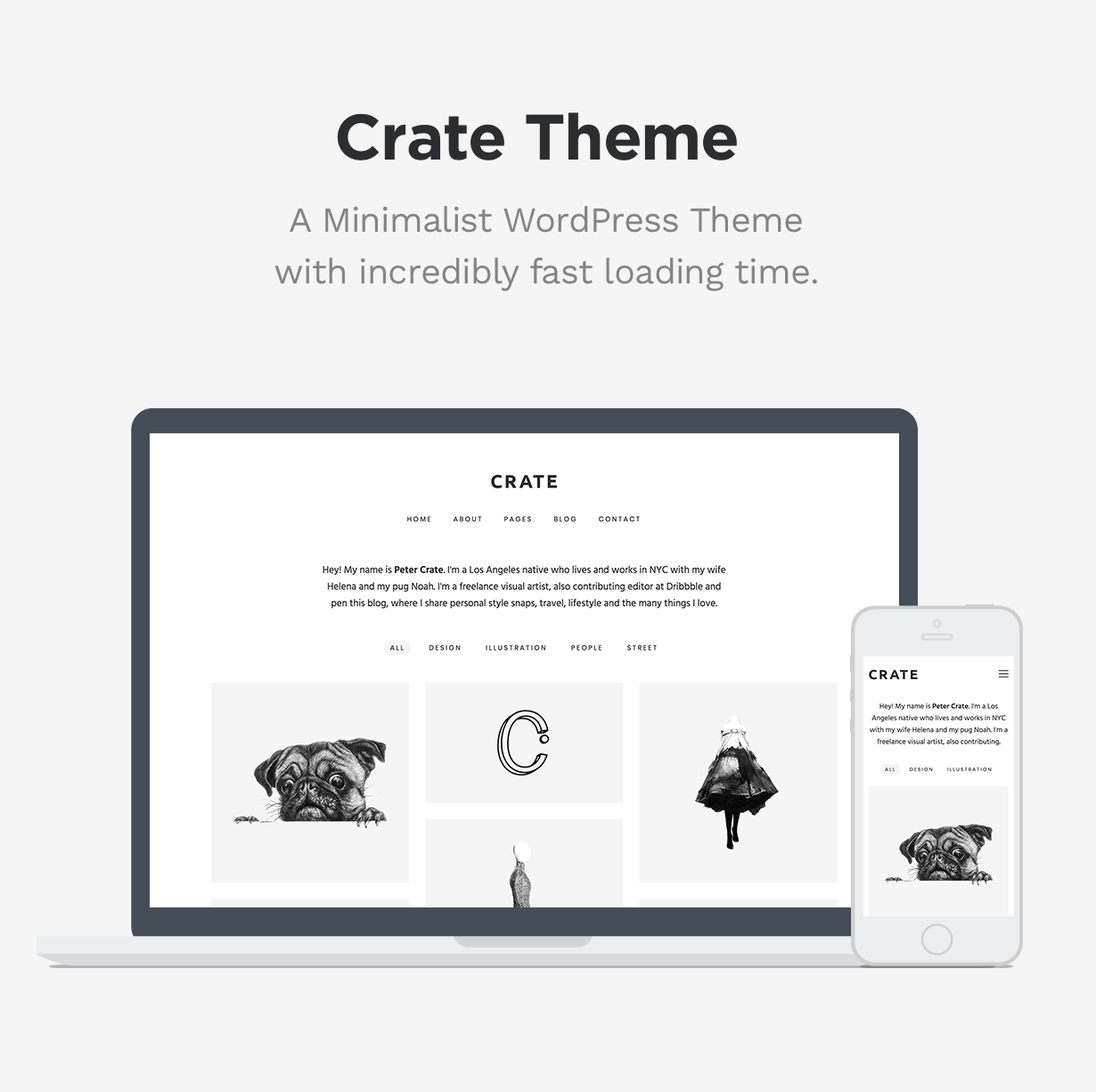 Crate - Minimalist WordPress Theme - 1