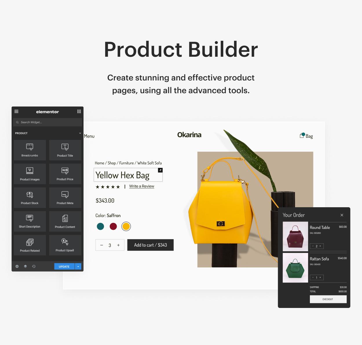 Kaon WordPress Theme - Product Builder