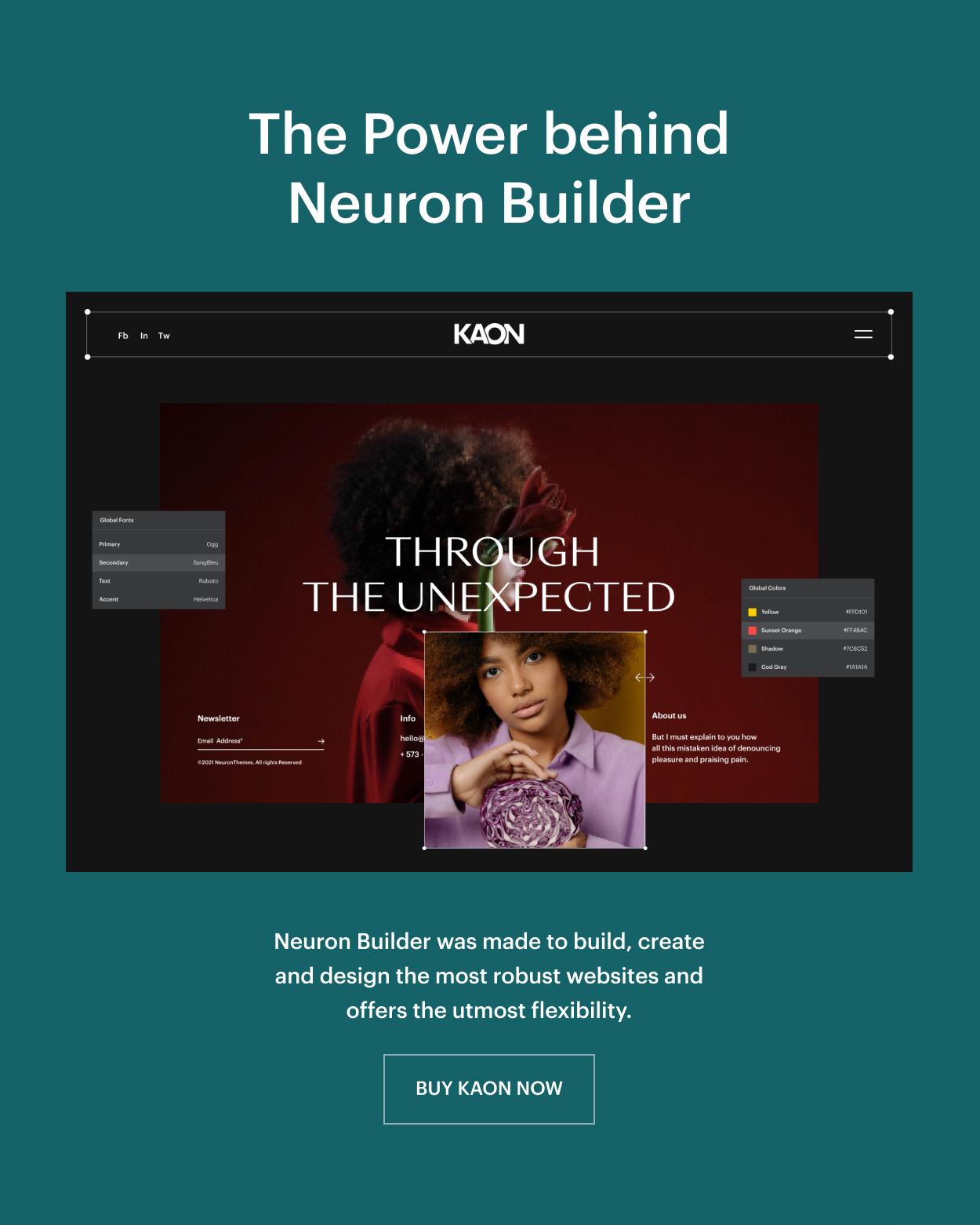 Kaon WordPress Theme - Theme Builder