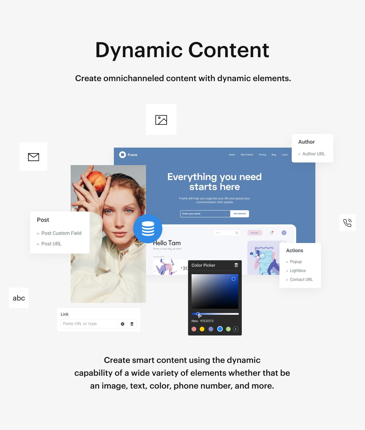 Kaon WordPress Theme - Dynamic Content