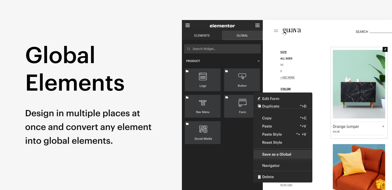 Kaon WordPress Theme - Global Widgets