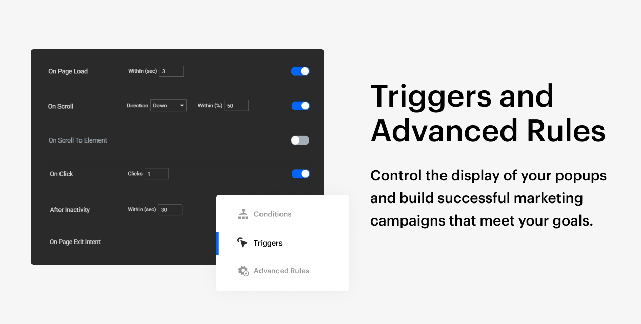 Kaon WordPress Theme - Popup Triggers