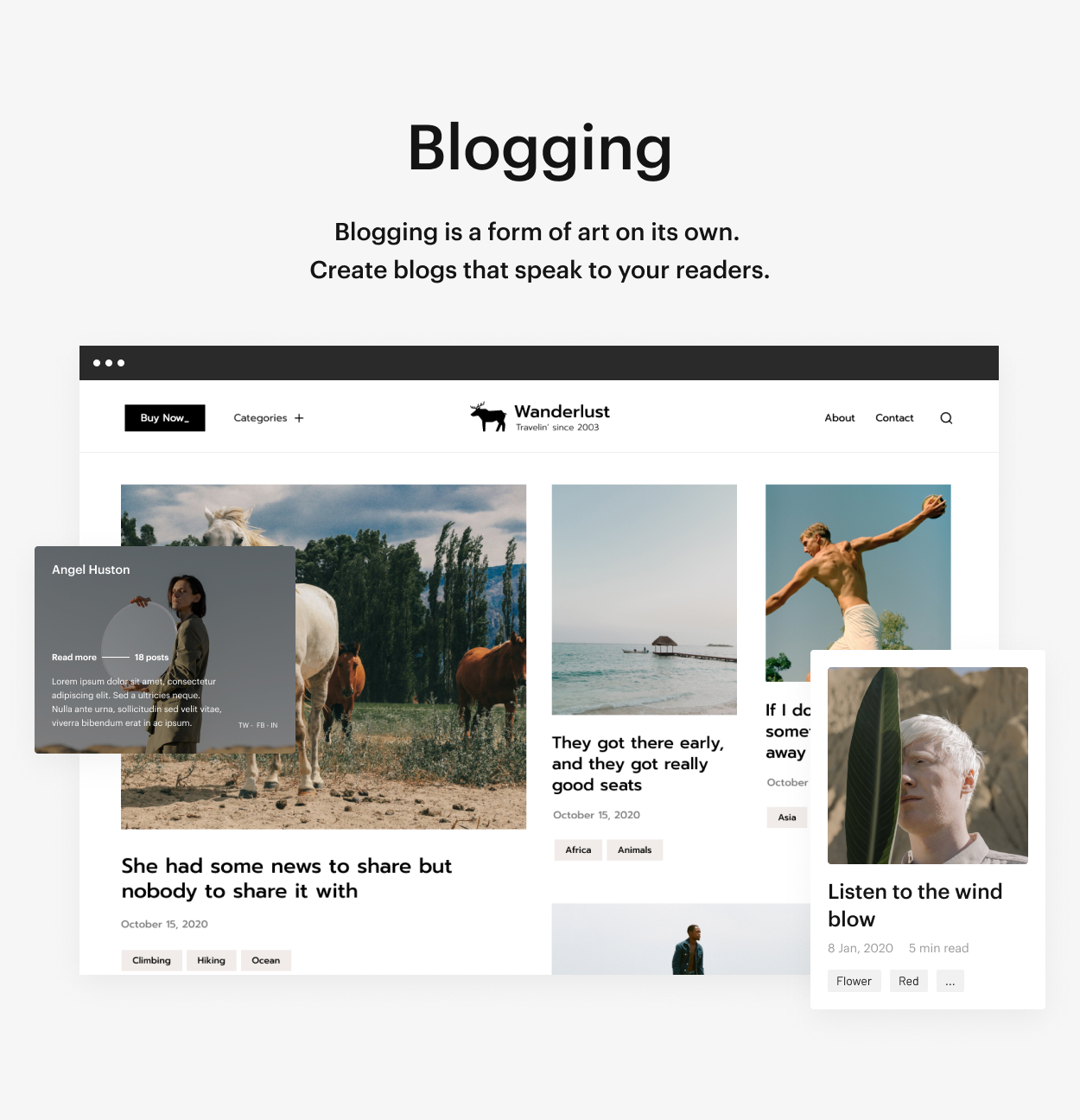 Kaon WordPress Theme - Blogging