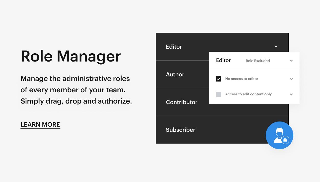 Kaon WordPress Theme - Role Manager