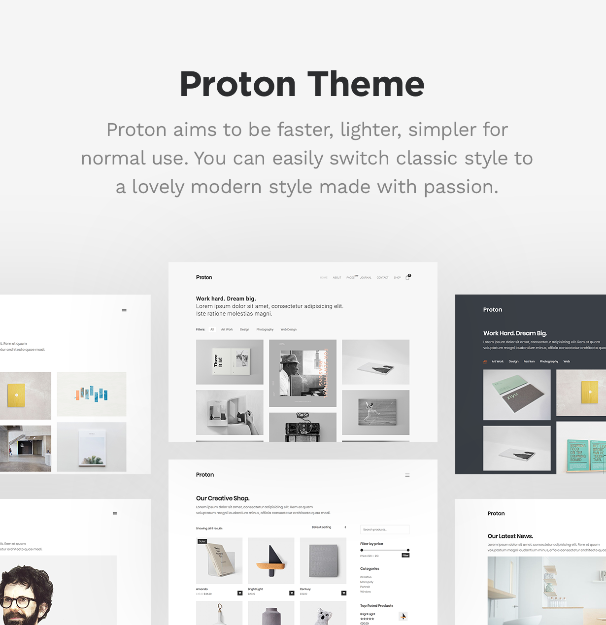 Proton - Minimal Portfolio Theme Download