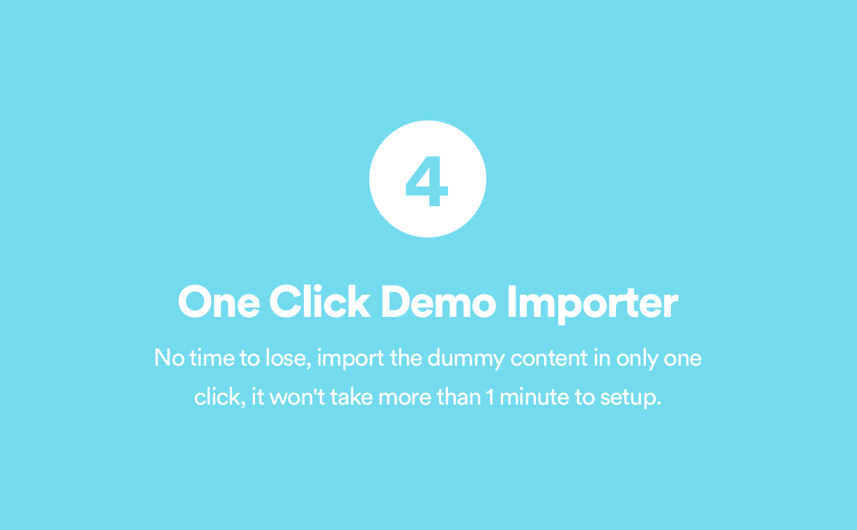 One Click Demo Importer