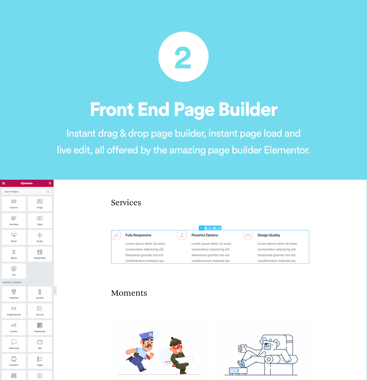 Front End Page Builder