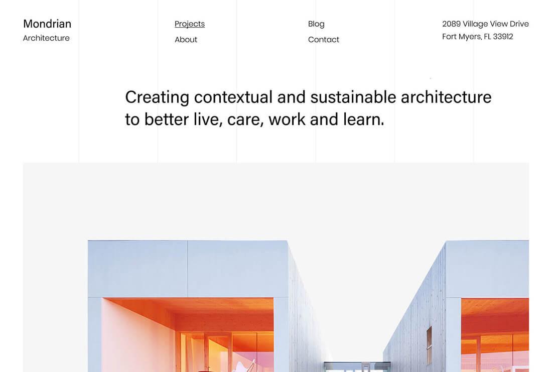 theme kaon preview Mondrian